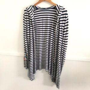 Soft Surroundings Sweaters - Soft Surroundings M blue striped full zip sweater